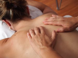 massage with CBD